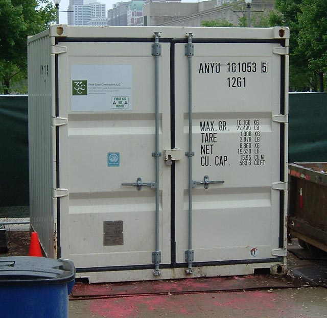 ANYU 1010535. Type 12G1 10 Foot Container Used For Storage. Unlike Many  10 Foot Storage Containers, This One Has Corner Castings At All Four Corners .